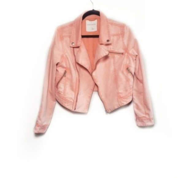 Urban Outfitters Jackets & Blazers - Sound and Matter Motorcycle Orange Faded Jacket